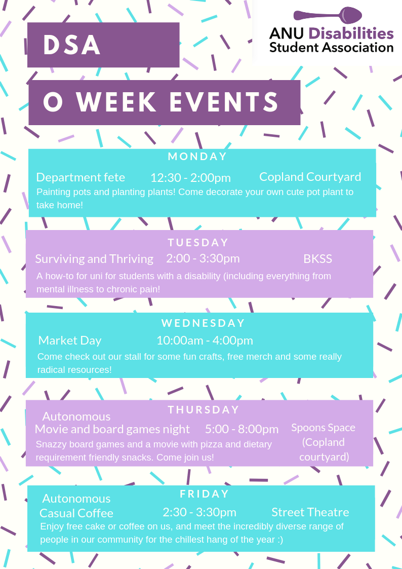 O- Week 2019 – ANU Disabilities Student Association